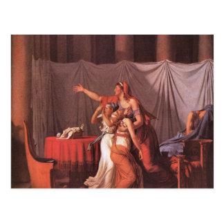 Jacques-Louis David - Brutus Liktoren bring his de Postcard