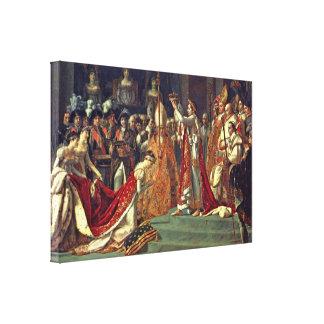 Jacques-Louis David - Coronation at Notre Dame Canvas Print