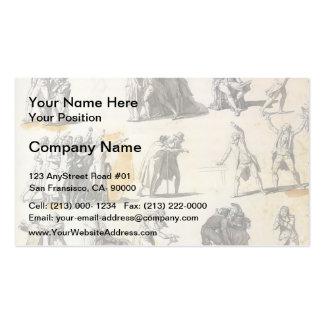 Jacques-Louis David: Deputies swearing oaths Business Card Template
