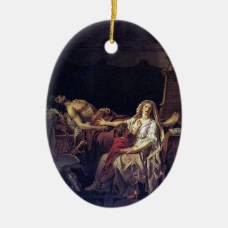 Jacques-Louis David el dolor de Andromache Ornamento Para Arbol De Navidad