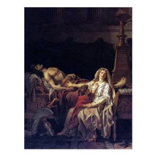 Jacques-Louis David el dolor de Andromache Postal