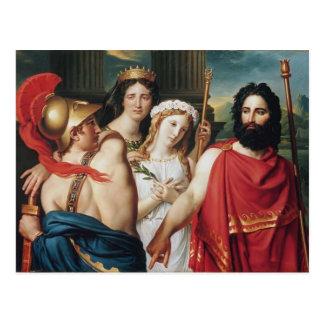 Jacques-Louis David la cólera de Aquiles Postal