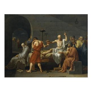 Jacques-Louis David la muerte de Sócrates Postales