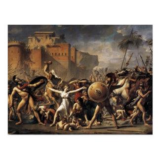 Jacques-Louis David las mujeres de la Sabine Tarjetas Postales