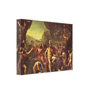 Jacques-Louis David - Leonidas en Thermopylae Impresión De Lienzo