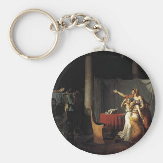 Jacques-Louis David- Lictors Bearing to Brutus Keychain