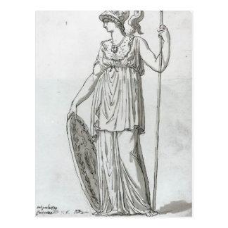 Jacques-Louis David: Minerva Postcard