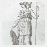 Jacques-Louis David: Minerva Square Sticker