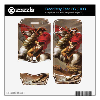 Jacques-Louis David - Napoleon crosses the great S BlackBerry Pearl Decal