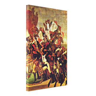 Jacques-Louis David - Oath of the army Gallery Wrapped Canvas