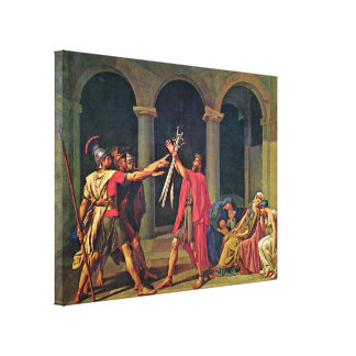 Jacques-Louis David - Oath of the Horatii, Canvas Print