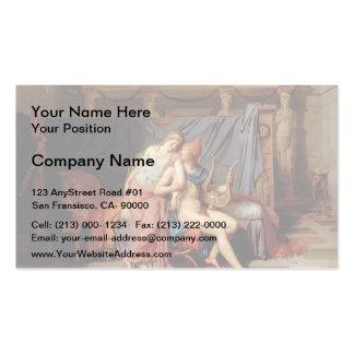Jacques-Louis David París y Helen Plantillas De Tarjetas De Visita