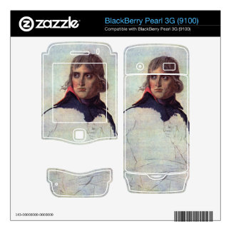 Jacques-Louis David - Portrait of General Napoleon BlackBerry Pearl 3G Decal