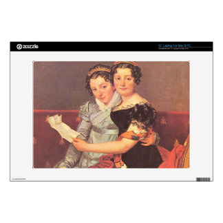 "Jacques-Louis David - Portrait of the daughters of 13"" Laptop Skins"