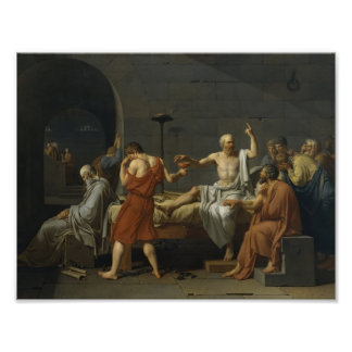 Jacques-Louis David- The Death of Socrates Posters
