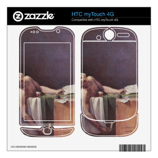 Jacques-Louis David - The murdered Marat Decal For HTC myTouch 4G