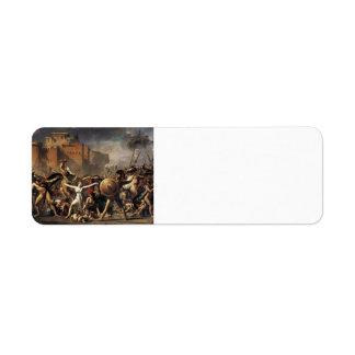 Jacques-Louis David- The Sabine Women Return Address Labels