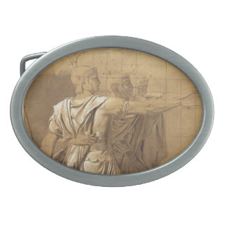 Jacques-Louis David: The Three Horatii Brothers Oval Belt Buckles