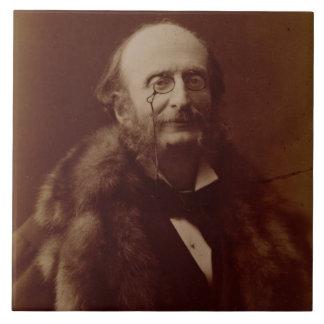 Jacques Offenbach (1819-80), compositor alemán, pu Azulejo Cuadrado Grande