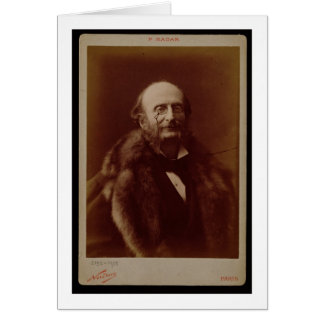 Jacques Offenbach (1819-80), German composer, port Card