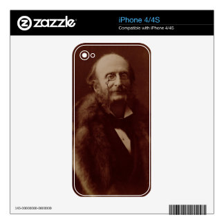 Jacques Offenbach (1819-80), German composer, port iPhone 4 Decals