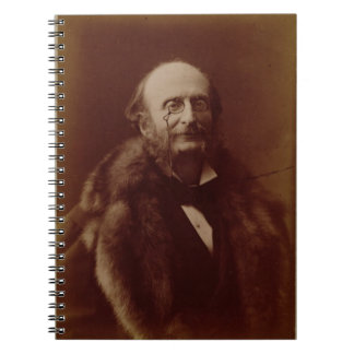 Jacques Offenbach (1819-80), German composer, port Notebook