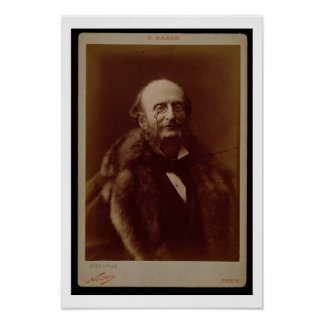 Jacques Offenbach (1819-80), German composer, port Poster