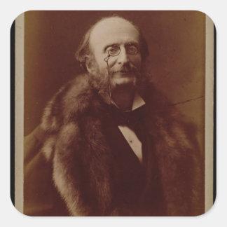 Jacques Offenbach (1819-80), German composer, port Square Sticker