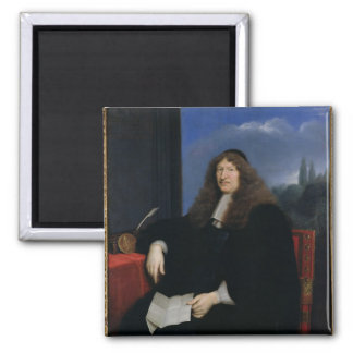 Jacques Tubeuf  President of the Chambre 2 Inch Square Magnet