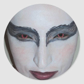 Jacqui B Black Swan Circle Sticker