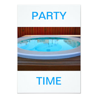 Jacuzzi Party Time Invitation
