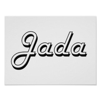 Jada Classic Retro Name Design Poster