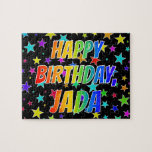 "[ Thumbnail: ""Jada"" First Name, Fun ""Happy Birthday"" Jigsaw Puzzle ]"