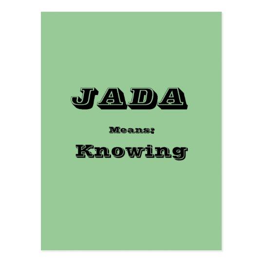 Jada Postcard