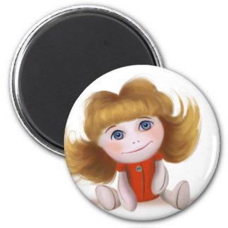 Jada the doll Round Magnet