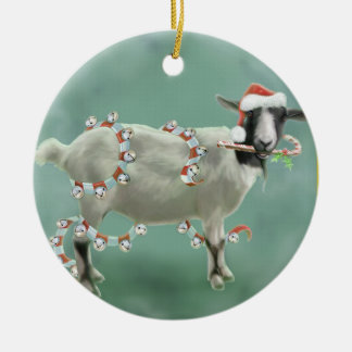 Jada The Goat, Christmas Ceramic Ornament