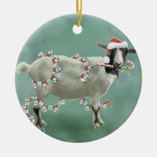 jada the goat christmas ceramic ornament