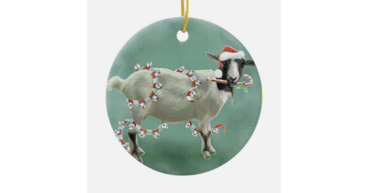 Jada The Goat Christmas Ceramic Ornament Zazzle Com