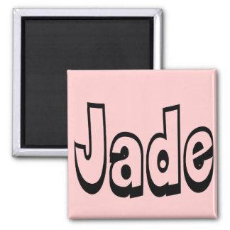 Jade 2 Inch Square Magnet