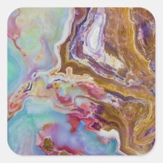 Jade Agate Marble Slab Square Sticker