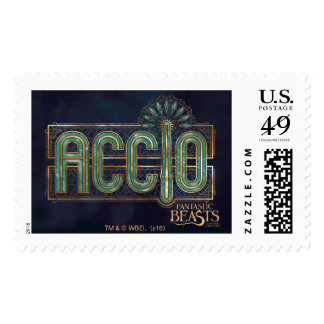 Jade Art Deco Accio Spell Graphic Postage