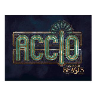 Jade Art Deco Accio Spell Graphic Postcard
