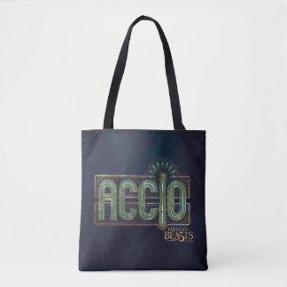 Jade Art Deco Accio Spell Graphic Tote Bag