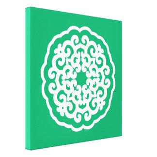 Jade Asian Moods Mandalla Stretched Canvas Prints