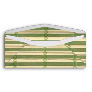 Jade Bamboo Mat Texture Look Envelope
