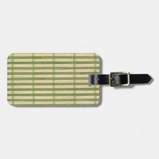Jade Bamboo Mat Texture Look Luggage Tag