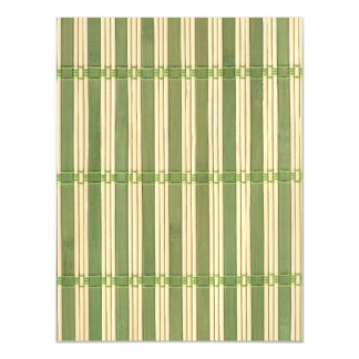 Jade Bamboo Mat Texture Look Magnetic Card