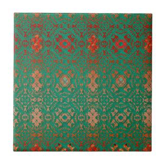 Jade bohemio rústico y modelo rojo azulejo