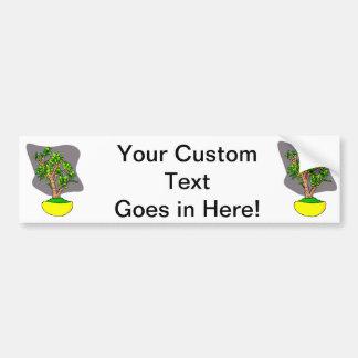 Jade Bonsai in Yellow Pot Car Bumper Sticker