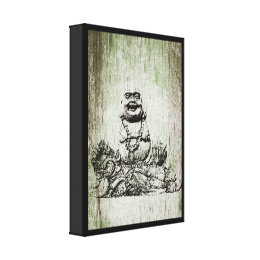 Jade Buddha Wrapped Canvas